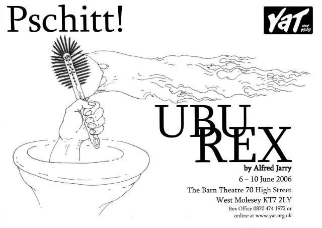 a comprehensive analysis of ubu the king a play by alfred jarry Ubu roi is a play by alfred jarry it was first performed in paris at the théâtre de l' œuvre,  this prototype for ubu roi is long-lost, so the true and complete details  of the authorship of ubu roi may never be known  in addition, the first word of  ubu roi is merdre, deliberately close to merde, meaning excrement.