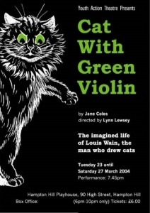 Cat With Green Violin